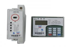 China Single Phase Split Prepaid Electricity Meter , Din Rail Power Meter With CIU on sale