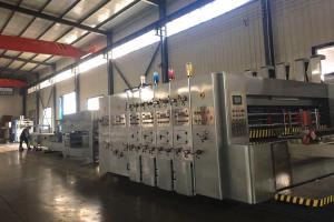 China Automatic Case Maker Flexo Printer Slotter With Folder Gluer Bundling Line on sale