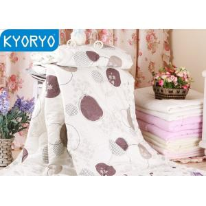 China Cozy Dot Cotton Air Conditioning Blanket / Breathable Quilt for Home and Hotel on sale