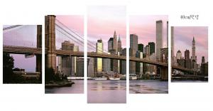 China Economic Canvas Prints Wall Art , Dusk City Scenery Stretched Canvas Wall Art on sale