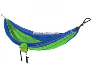 China Royal Neon Green Avalanche Portable Parachute Nylon Hammock For Two Person 198 X 266 Cm on sale