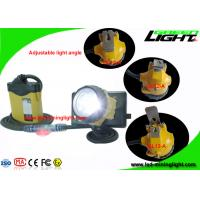 High Safety Mining Cap Lamp with Cable , Rechargeable Coal Miner Headlamp with Cable Flash Light