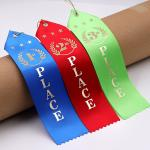 Colorful Rosette Horse Ribbon Polyester / Nylon Material Two Inch Width