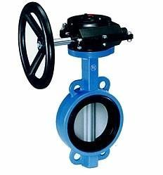 China Industrial butterfly wafer valve With Gearbox , PN 10 Bar Hand / Manually Operated,CAST IRON,WCB on sale
