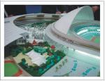 Paisaje miniatura del modelo de escala para la disposición del modelo de la exposición