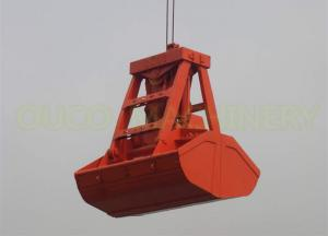 China Clamshell Hydraulic Grab Bucket Remote Control High Automation Big Grasping Force on sale
