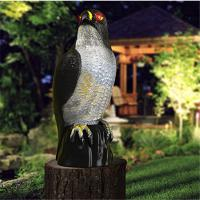 Garden solar  ultrasonic insect repellent hawk style antique electronic pest repeller