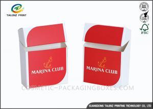 China Promotional Logo Print Cigarette Case Custom Cigarette Box Folding Paper Box on sale