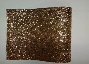 China Home Decoration Gold Glitter Fabric , Thick Glitter Fabric For Dresses on sale