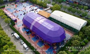China Purple Color 2000 Square Meter Outdoor Party Tent for Temporary Basketball Competition on sale