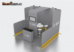 China Expo Display Stand 10x10 Trade Show Booth Design With CMYK Printing Led Lights on sale