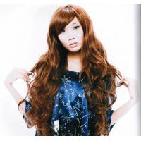 China Eco - friendly Extra Long Brown Asian Hair Wigss for Lady on sale