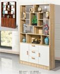 Exquisite Curio Cabinet Shelves Large Storage Space Movable Furniture