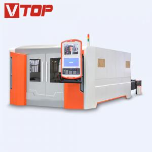 China 4000w Full Closed Pallet Table CNC Fiber Laser Metal Sheet Cutting Machine on sale