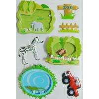 Decor Reusable 3D Puffy Stickers , Shaker Stickers Zoo Style Handcrafts