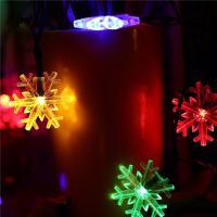 Snowflake Decorative Led String Lights , Warm Color Solar Led Christmas Tree Light