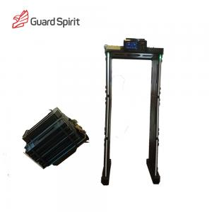 China High Sensitivity LCD Screen Walk Through Portable Metal Detector For Security on sale