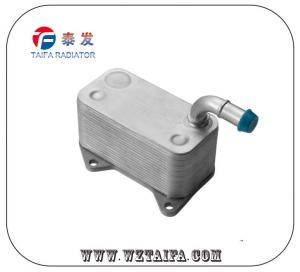 China Original VW / AUDI Engine Oil Cooler TF-1064 , Aluminum Oil Cooler 06D117021C on sale