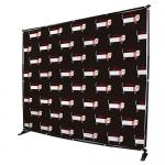 Custom Telescopic Backdrop Stand , Step Repeat  Adjustable Banner Stand