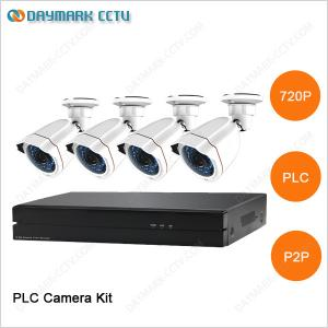 China New tech network 4CH 720P Plug and Play PLC Security Camera System on sale