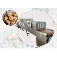 Silvery White Color Stainless Steel Conveyor Belt Material Microwave Sterilization Machine For Figs