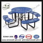 el PVC hermoso del color cubrió el banco/sillas ampliados del jardín del metal