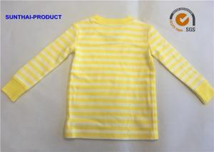 China Size  Customized Plain Baby Clothes Stripe Long Sleeve Kids Pajama Tops on sale