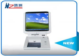 China Indoor IRM touch card dispenser kiosk in hospital lobby , 55 Inch intelligent self service kiosk on sale