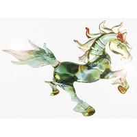 Fashionable Hand Glass Art Horse Figurine Anniversary Gift , Colored