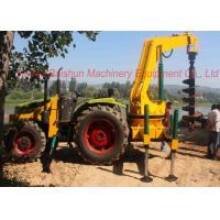 China Hydraulic concrete pole erection machine for drilling deep earth hole, pole driling machine on sale