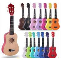 "Wholesale colorful  ukulele  21"" Soprano Ukulele Basswood Nylon 4 Strings Acoustic Bass Guitar Ukulele Musical Stringed"