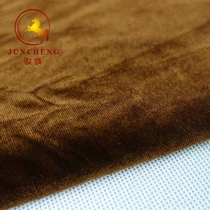 China 50D FDY 4 Way Stretch 1.5mm pile KS Korea spandex Velvet Fabric on sale