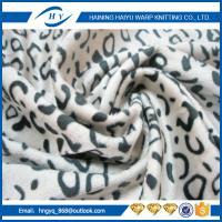 Commercial Carpet leopard print velvet upholstery fabri For Xcmg Spare Parts