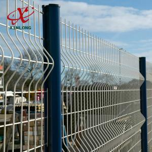 200*50mm PVC Coated Airport Welded Wire Mesh Fence Panel Convenient ...