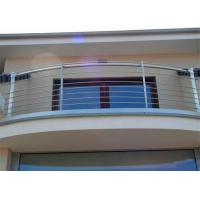 China Customized Made Dressed Timber and Stainless Steel Rod Balustrade for Balcony on sale