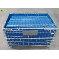 Wire Mesh Stillage Container Portable Pallet Storage Turnover Cage With Wheels