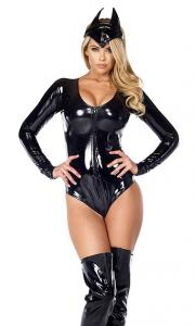 China Catty Conqueror Sexy Superhero Costume Wholesale with Size S to XXL Available on sale