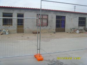 China 4687-2007番の浸る2.4x2.1m熱いとしてオーストラリアの標準はオーストラリアのためのプラスチック フィートそしてクランプが付いている一時的な塀に電流を通します on sale