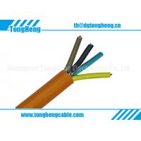 China Orange Colour 4 conductors Unshielded Low Smoke Halogen Free Cable on sale