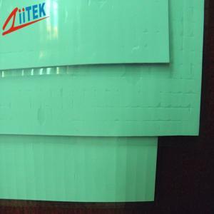 Quality ponga verde el reemisor de isofrecuencia termal TIF180-20-07E de 2,0 W/mK hoja de la goma de silicona de 2,032 milímetros en la dureza 35shore00 for sale