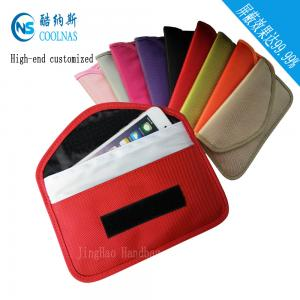 China Cellphone Red RFID Travel Bags / Signal Shield Rfid Protection Wallet on sale