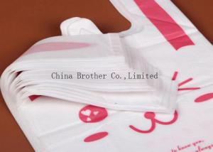 China PE Recyclable Die Cut Plastic Bags , Personalized Plastic Grocery Bags on sale