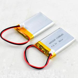 China Rechargeable Lithium Polymer Bluetooth Battery 603450 3.7V 1100mAh for Speaker Card on sale
