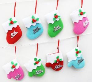 China Mini Christmas boots and  gloves Christmas  decorations hang on Christmas tree on sale