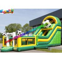 Commercial Soccer Inflatable Slide With Football Bouncing Castle