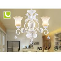 China Contemporary 3 Light LED Chandelier Lights White With CE / ROHS / FCC on sale