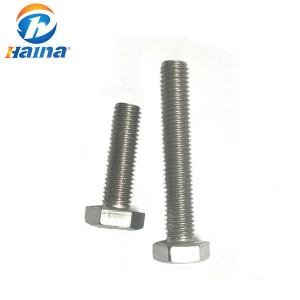 China DIN931 Steel Bolt, Stainless Steel Bolts , Hexagon Bolt plain color on sale