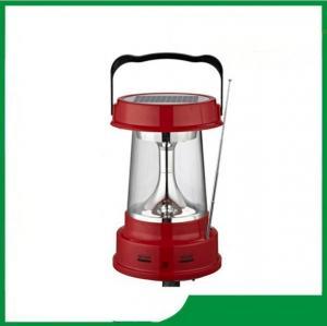 China Solar lantern with sensor / hand cranking led solar lantern / FM & AM radio, phone charger solar lantern light on sale