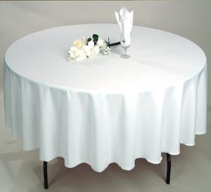 China White Wedding Table Cloth For Round Table on sale