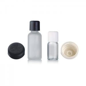 China Saftey Cap Clear Essential Oil Bottles 30ml Round Shape Tight Sealing on sale